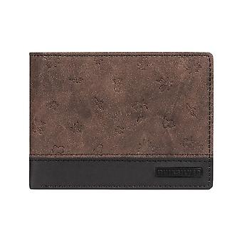 Quiksilver Mini Mo Faux Leather Wallet in Chocolate Brown