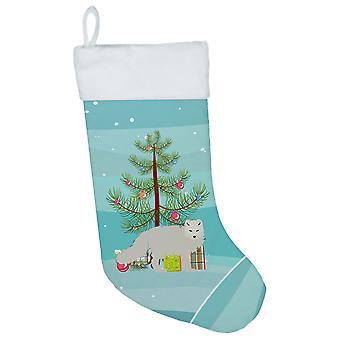 Carolines Treasures  BB9244CS White Arctic Fox Christmas Christmas Stocking