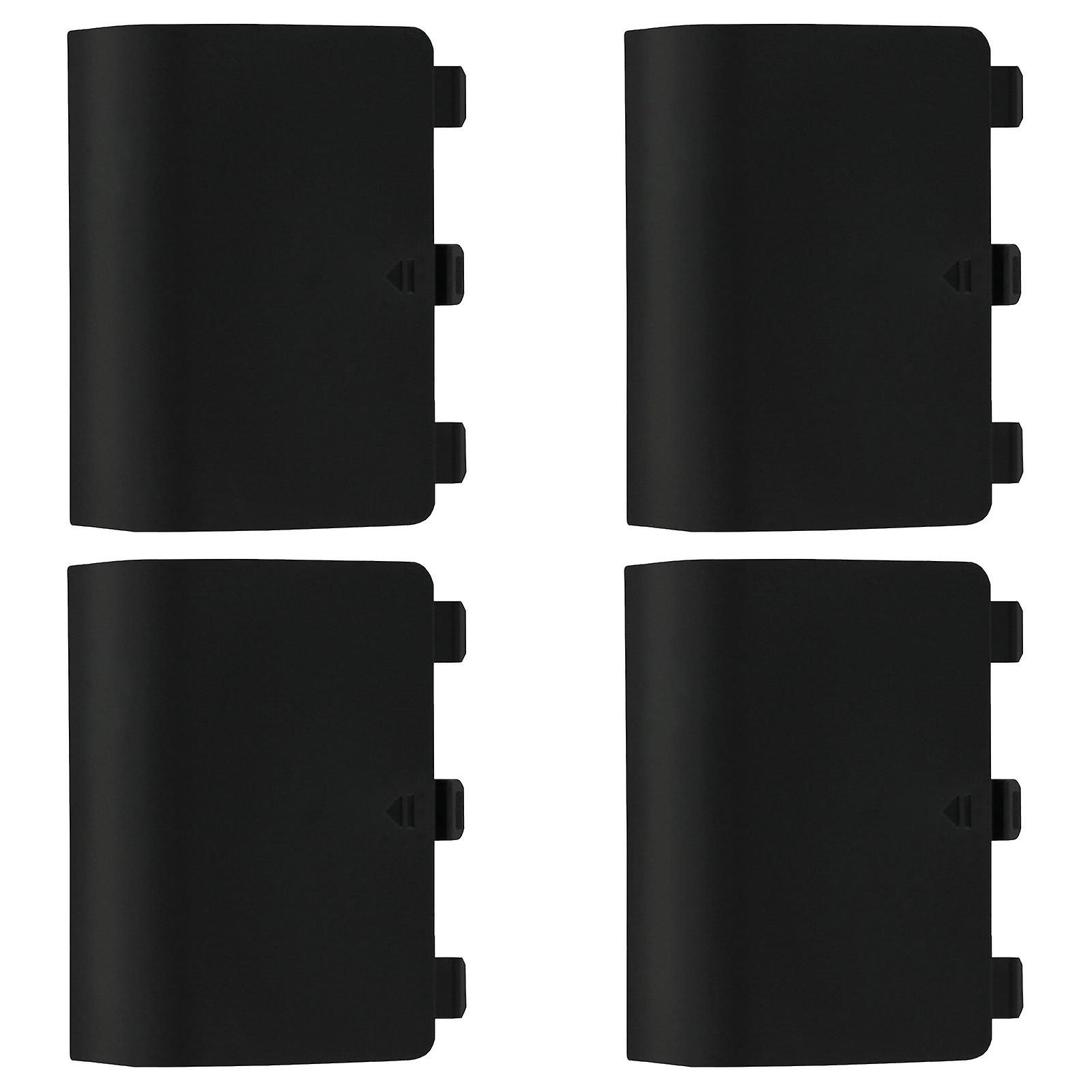 Replacement battery back cover holder for black microsoft xbox one controllers ? 4 pack black