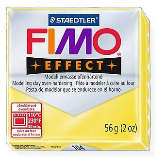 FIMO Soft-transparente amarelo #104