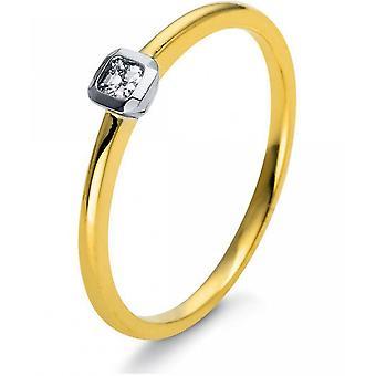 خاتم الماس - 18K 750/-Gold - 0.08 قيراط. مقاس 54