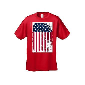 Unisex liberdade orgulho de ser uma americano EUA bandeira camiseta de manga curta