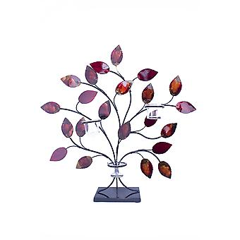 Kupari punainen ja kulta metallifolio ja lakka lehdet votiivipidike
