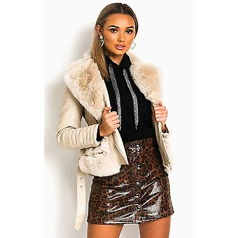 IKRUSH chaqueta de cuero aster falso para mujer