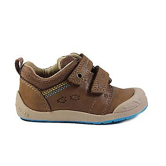 Startrite Supersoft Beetlebug Brown Leather Boys Rip Tape Shoes