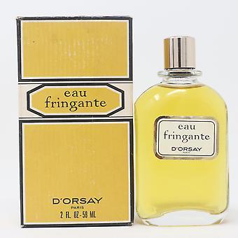 Eau Fringante by D'orsay Eau De Toilette Fraiche 2oz/50ml Splash Vinatage