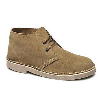 Cotswold Sahara Unisex Suede Desert Boots Tan