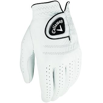 Callaway Golf Mens Tour Authentic Leather Gloves - LH - White