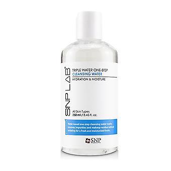 Snp Lab+ Água Tripla Água Uma etapa Água de Limpeza - Hidratação e Hidratação Umidade (para todos os tipos de pele) - 250ml/8.45oz