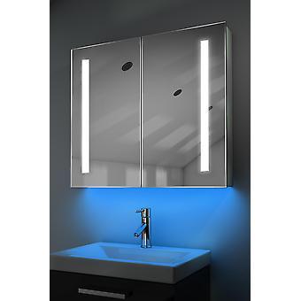Schrank mit LED unter Beleuchtung, Sensor & interne Rasierer k366w muss