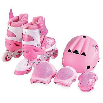 Inliner Children Ponny 2 in 1 pink with protective equipment, size M 34-37 adjustable