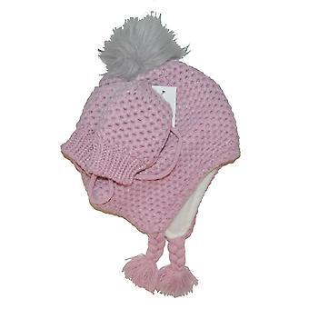 Rosa Babymütze + Handschuhe