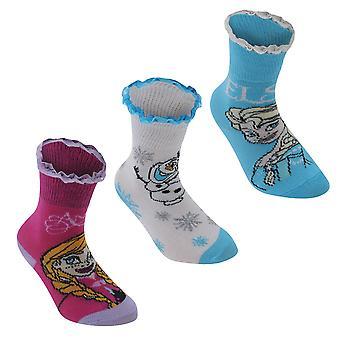Disney Kids 3 Pack Crew Socks Childrens