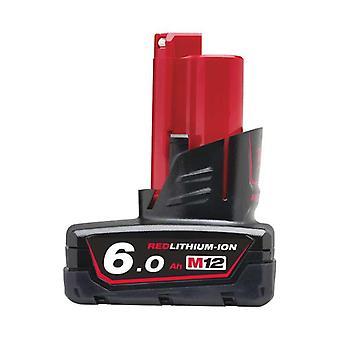 Μιλγουόκι M12B6 M12 6.0 Ah κόκκινη μπαταρία ιόντων λιθίου