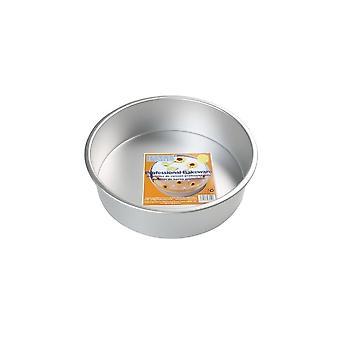 PME 8 polegadas Round X 3 polegadas Deep Seamless Cake Pan Tin
