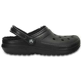 Crocs Classic fodrad täppa svart/svart