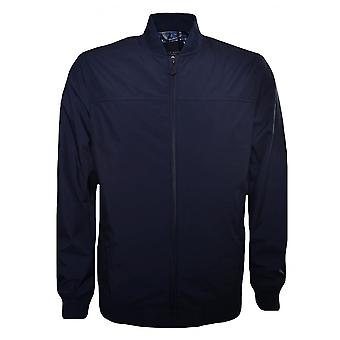 Ted Baker Men's Navy Blue Ohta Bomber Jacket