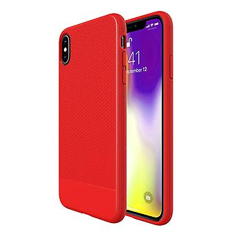 For iPhone XS MAX Case, Red Snap Armor Shock Proof Slim Protective Phone Cover
