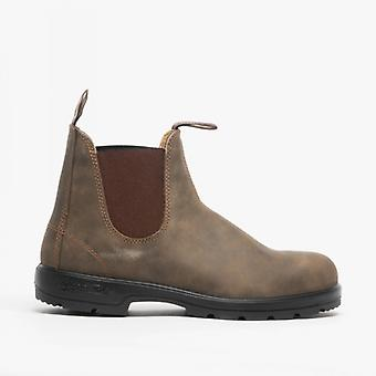 Blundstone 585 Unisex Premium Nubuck Chelsea Boots Rustic Brown