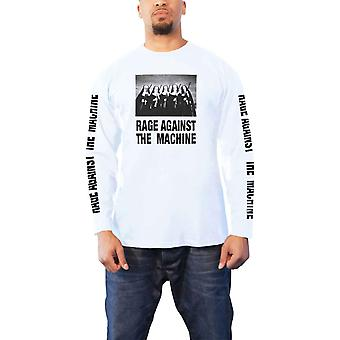 Rage Against The Machine T Shirt Nuns And Guns Official Mens White Long Sleeve
