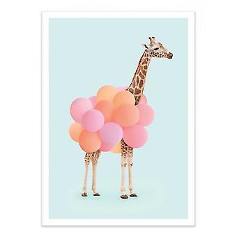 Art-Poster - Giraffa Palloncino - Paul Fuentes 50 x 70 cm