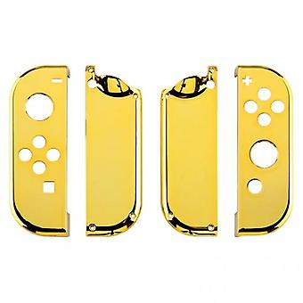 Housing shell for nintendo switch joy-con controller hard casing replacement - chrome gold | zedlabz