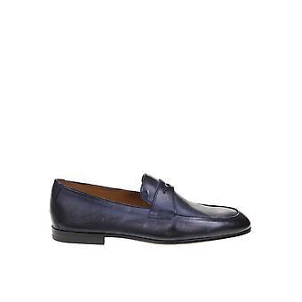 Doucal's Du2367capruf036nb00 Men's Blue Leather Loafers