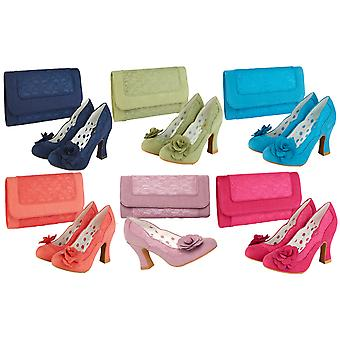 Ruby Shoo Women's Chrissie Mid Heel Court Shoes OR Matching Tirana Bag OR Set