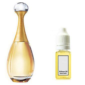 Christian Dior J'Adore für ihren inspirierten Duft 100ml Nachfüller essentieller Diffusor Ölbrenner Duft Diffusor