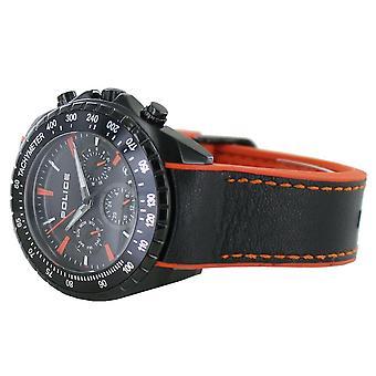Police Herren Uhr Armbanduhr Silikon Analog PL15328JSB.02P