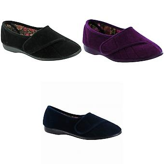 GBS Womens/Ladies Audrey Touch Fasten Slippers