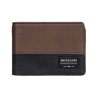 Quiksilver Nativecountry II Faux Leather Wallet in Chocolate Brown