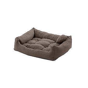 Pet Klub Pizarra 75cm x 65cm gran tamaño espuma crumb filled Tufted Dog Bed in Textured Linen Feel Fabric