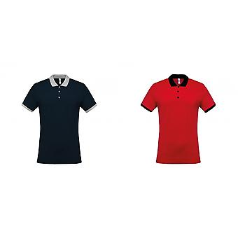 Kariban mens Two-Tone Pique Polo shirt