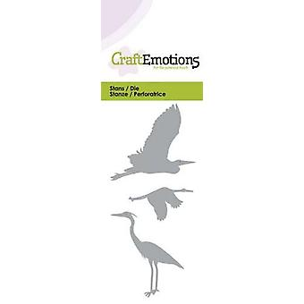 CraftEmotions يموت -- بطاقة الطيور المائية 5x10cm