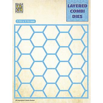 Nellie's Choice Layered Combi Die Honeycomb Layer A LCDH001 116x116mm