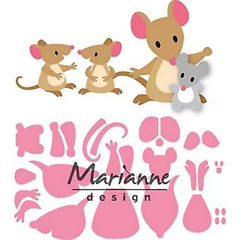 Marianne Design Collectables Cutting Dies - Eline's Mice Family COL1437
