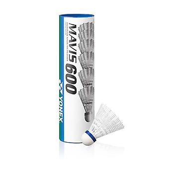 Yonex Mavis 600 Badminton Shuttlecocks Shuttles (Tube of 6) White