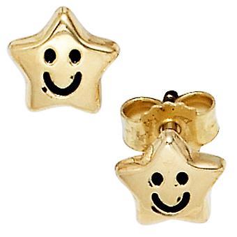 Παιδικά Κουμπωτά Σκουλαρίκια αστέρων αστέρια 333 χρυσό κίτρινο χρυσό σκουλαρίκια Παιδικά σκουλαρίκια