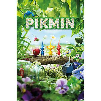Pikmin Personagens Maxi Pôster