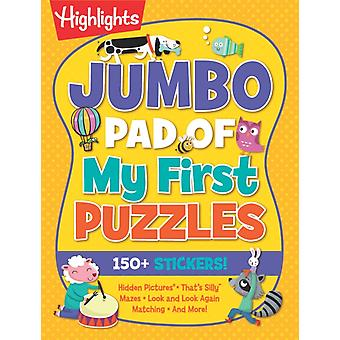 Jumbo Pad of My First Puzzles by Edited by Highlights