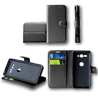 For HTC U12 livet bag lommebok premie svart beskyttende ermet coveret veske nye tilbehør