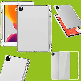 Para Apple iPad Pro 11.0 2020 / 2021 Tablet transparente com caixa de abertura de caneta TPU Silicone Fino