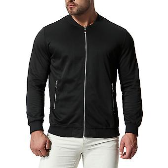 Cloudstyle Men's Bomber Jacket Solid Cotton Outwear