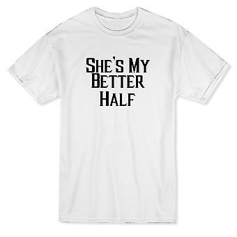 She's My Better Half Matching Couple Graphic Men's T-shirt