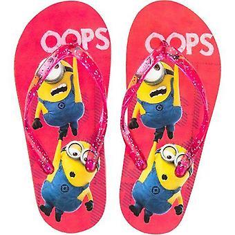 Girls Licenced Minions Flip Flops - Design 1