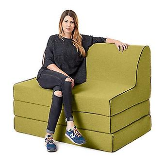 Changing Sofas Olive Wool Effect 'Olivia' Foam Double Fold Out Sofa Bed Z Bed Lounger