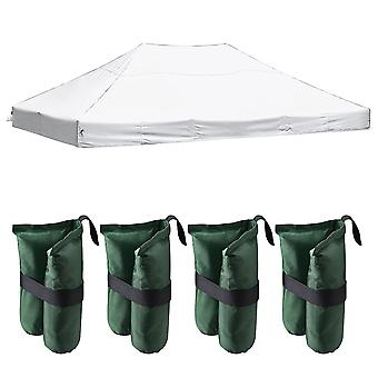 Instahibit 14.7x9.8' 550D Outdoor Event Pop Up Canopy Replacement CAPI-84 Tent Top Cover Wedding White with 4x Sand Bag