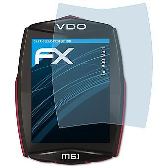 atFoliX 3x Screen Protection Film kompatibilný s VDO M6.1 Screen Protector matt & shockproof