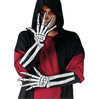 Skelett handske och handleden ben